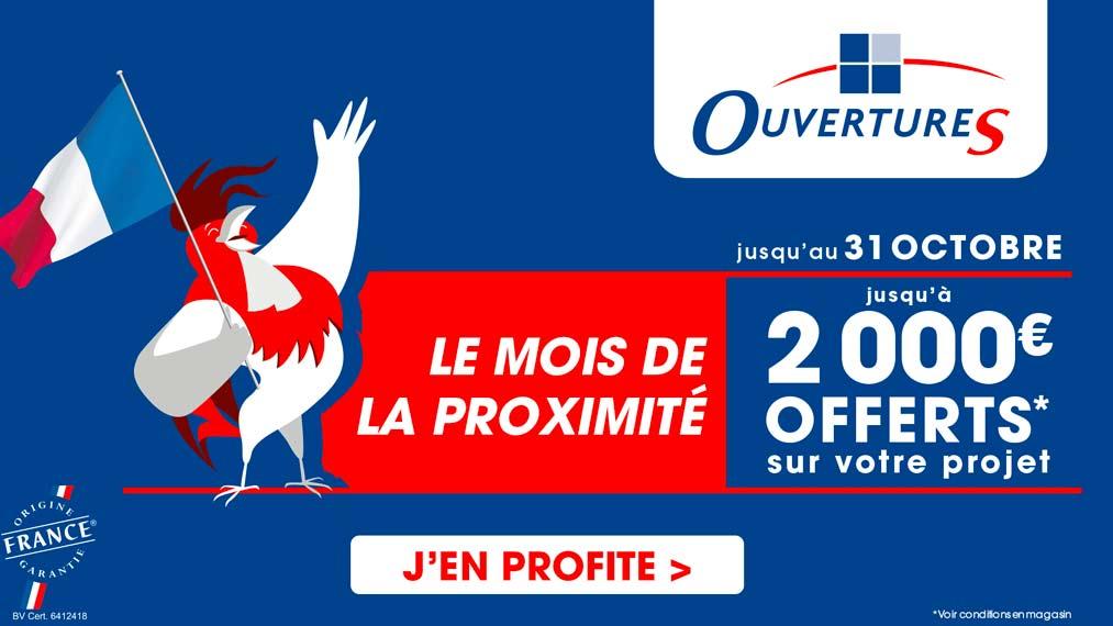 jusqu'à 2000€ offerts sur votre projet OuvetureS
