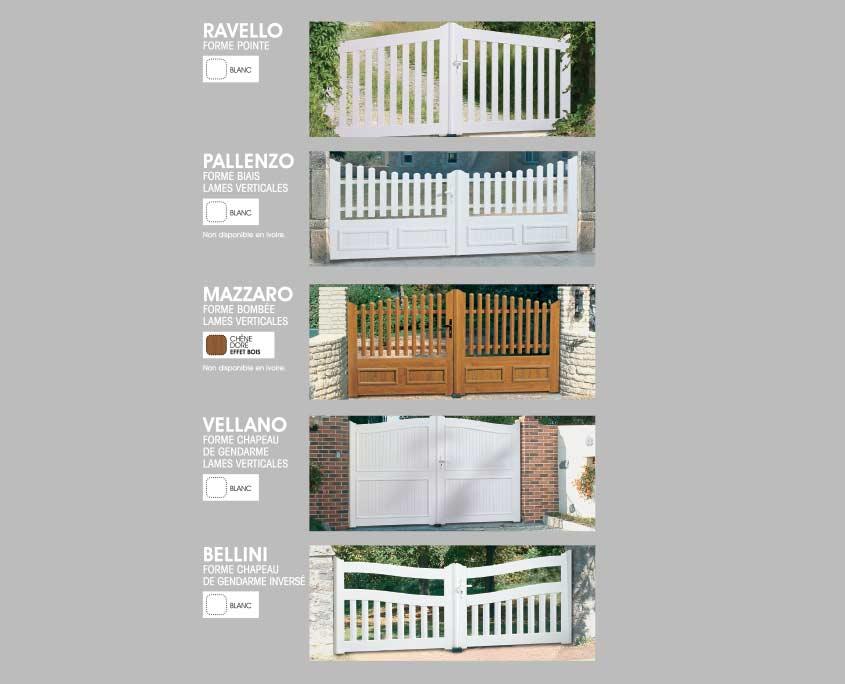 Portail PVC ouvertures paris formes