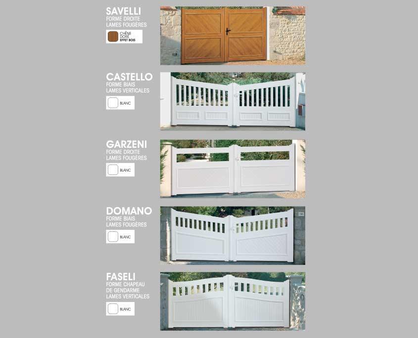 Portail PVC ouvertures paris forme