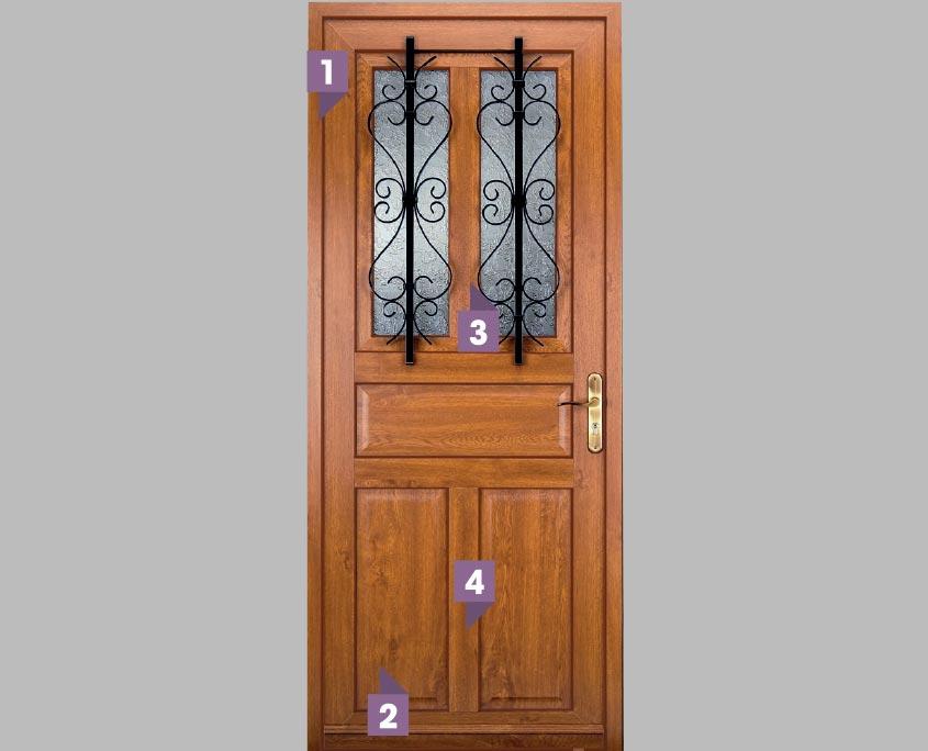 porte PVC ouvertures gamme compo