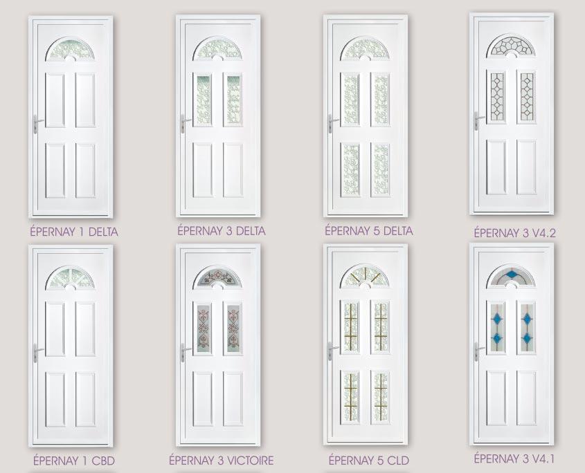 porte PVC ouvertures gamme deco modele