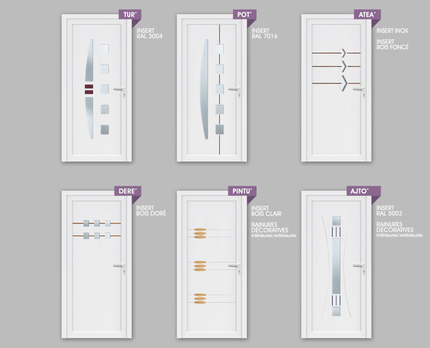 porte PVC ouvertures- gamme deco modeles