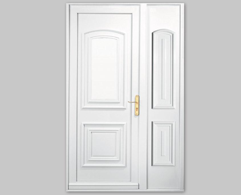 Porte PVC ouvertures gamme spécifique plein