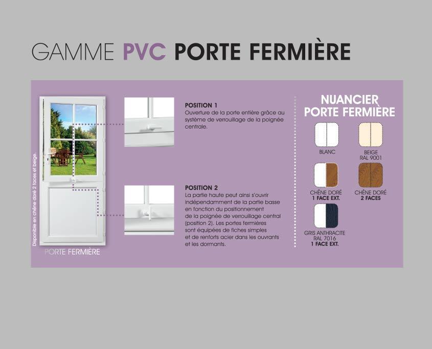 Porte PVC OuvertureS gamme spécifique porte fermière