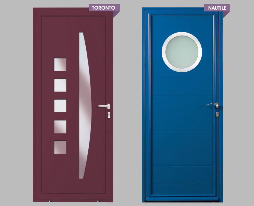porte alu ouvertures gamme résidence modele