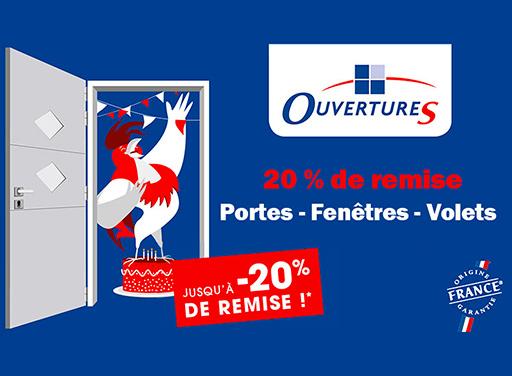 20 % remise OuvertureS paris