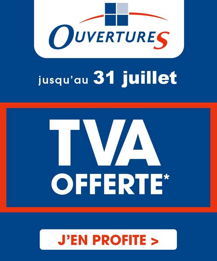 TVA offerte sur les fenêtres, volets, portes et pergola