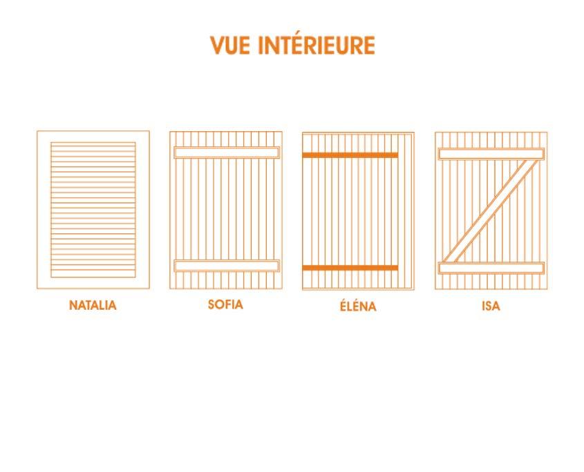 Volet alu battant classique vue intérieure OuvertureS Paris