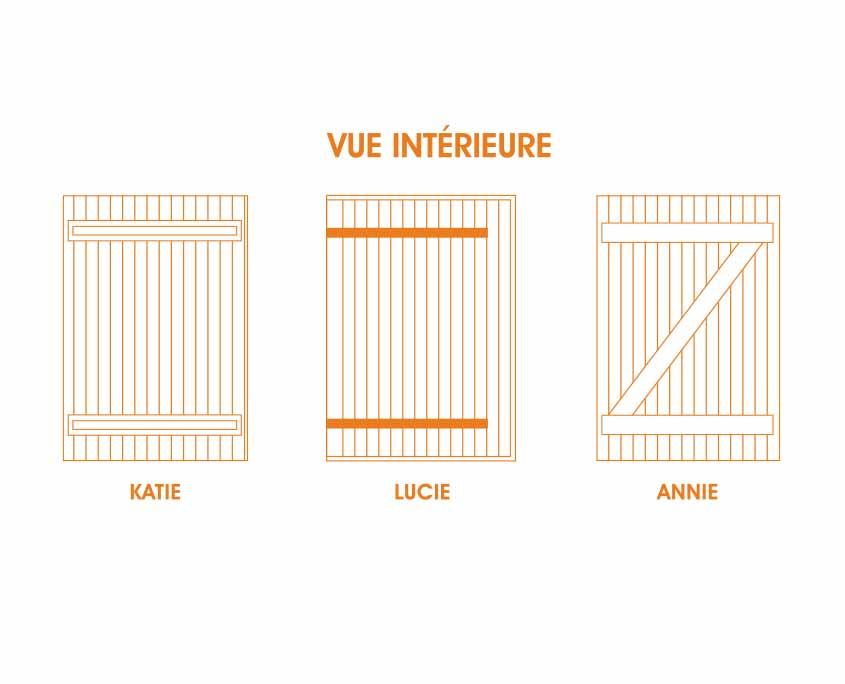 Volet PVC Battant 28 mm vue intérieure OuvertureS Paris